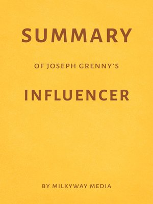 cover image of Summary of Joseph Grenny's Influencer