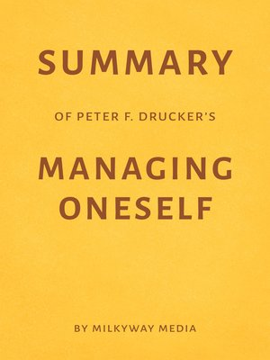 cover image of Summary of Peter F. Drucker's Managing Oneself