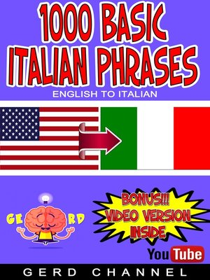 cover image of 1000 Basic Italian Phrases
