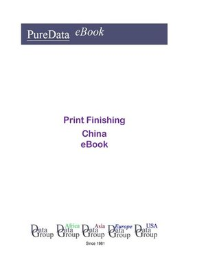 cover image of Print Finishing in China
