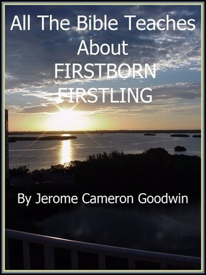 cover image of FIRSTBORN--FIRSTLING