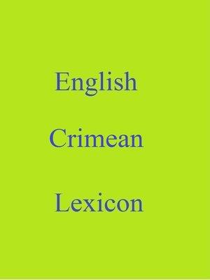 cover image of English Crimean Lexicon