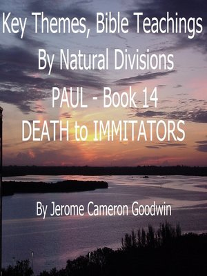 cover image of PAUL--DEATH to IMMITATORS--Book 14--KTBND