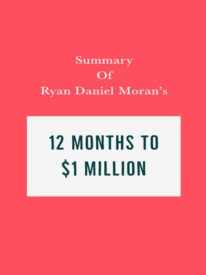 cover image of Summary of Ryan Daniel Moran's 12 Months to $1 Million