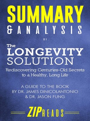 cover image of Summary & Analysis of the Longevity Solution