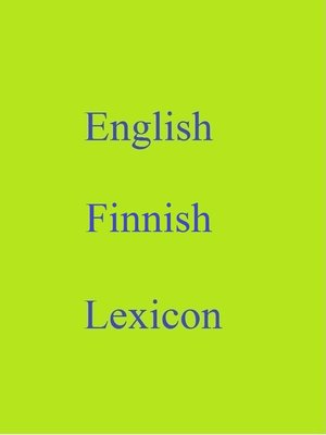cover image of English Finnish Lexicon