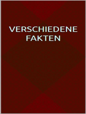 cover image of Verschiedene Fakten