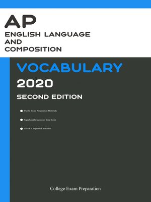 cover image of AP English Language & Composition Vocabulary 2020