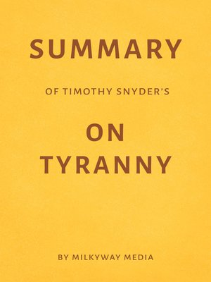 cover image of Summary of Timothy Snyder's On Tyranny
