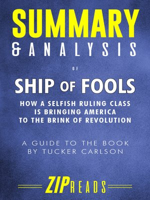 cover image of Summary & Analysis of Ship of Fools