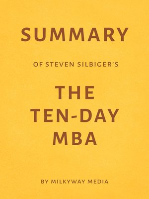 cover image of Summary of Steven Silbiger's the Ten-Day MBA