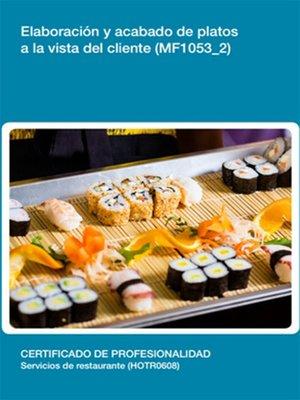 cover image of MF1053_2--Elaboración y acabado de platos a la vista del cliente