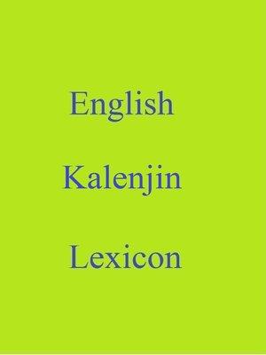 cover image of English Kalenjin Lexicon