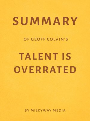 cover image of Summary of Geoff Colvin's Talent Is Overrated