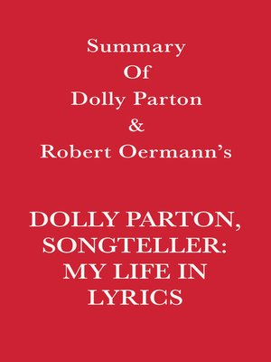 cover image of Summary of Dolly Parton and Robert Oermann's Dolly Parton, Songteller