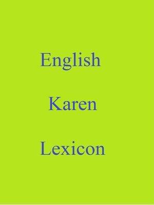 cover image of English Karen Lexicon