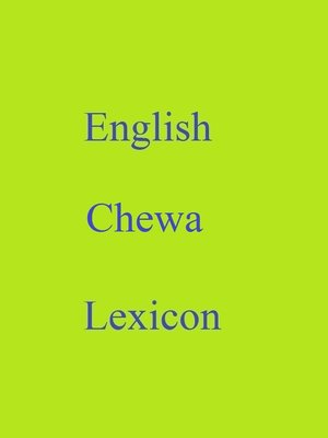 cover image of English Chewa Lexicon