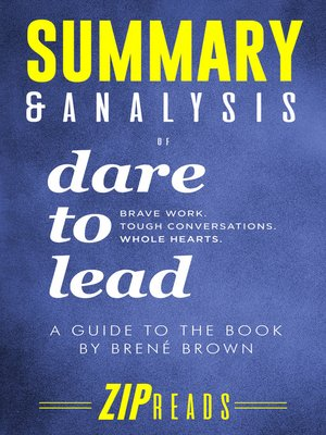 cover image of Summary & Analysis of Dare to Lead
