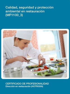 cover image of MF1100_3--Calidad, seguridad y protección ambiental en restauración