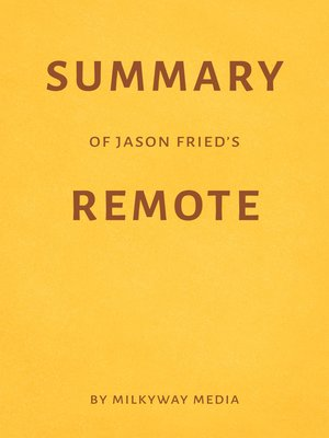 cover image of Summary of Jason Fried's Remote
