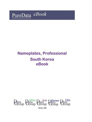 cover image of Nameplates, Professional in South Korea