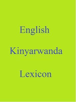 cover image of English  Kinyarwanda Lexicon