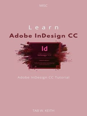 cover image of Learn Adobe InDesign CC