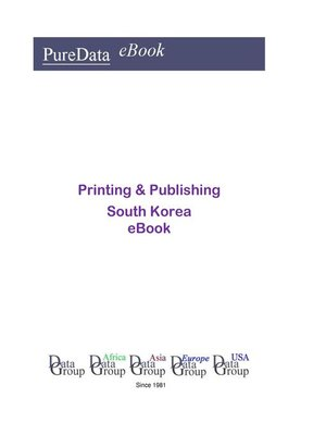 cover image of Printing & Publishing in South Korea