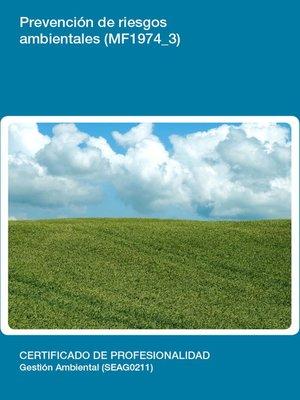 cover image of MF1974_3--Prevención de riesgos ambientales