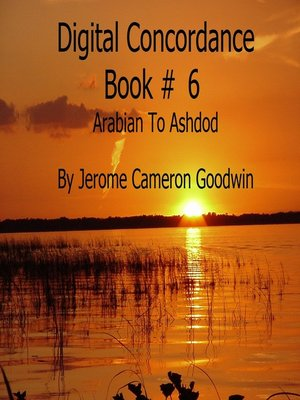 cover image of Arabian to Ashdod--Digital Concordance Book 6