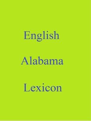 cover image of English Alabama Lexicon