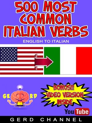 cover image of 500 Most Common Italian Verbs