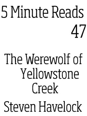 cover image of Werewolf of Yellow Stone Creek