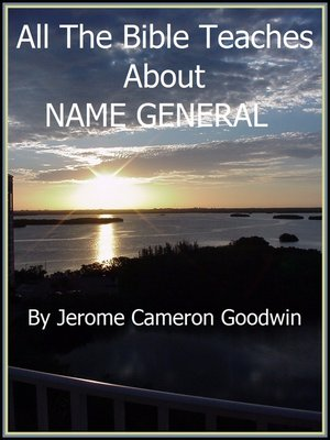cover image of NAME GENERAL