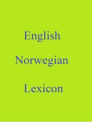 cover image of English Norwegian Lexicon