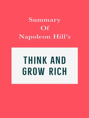 cover image of Summary of Napoleon Hill's Think and Grow Rich