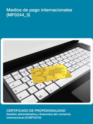 cover image of MF0244_3--Medios de pago internacionales