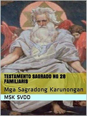 cover image of TESTAMENTO SAGRADO NG 28 FAMILIARIS
