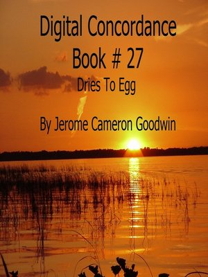 cover image of Dries to Egg--Digital Concordance Book 27
