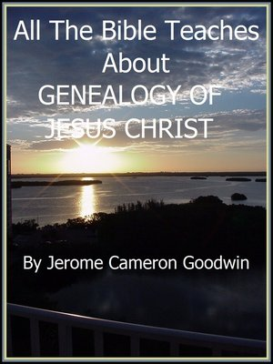 cover image of GENEALOGY OF JESUS CHRIST