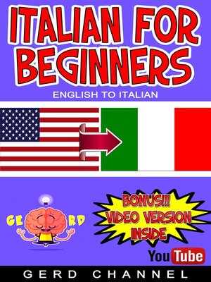 cover image of Italian for beginners