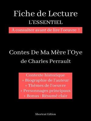 """cover image of Fiche de lecture """"L'ESSENTIEL""""--Contes de ma mère l'Oye de Charles Perrault"""