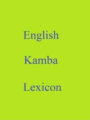 cover image of English Kamba Lexicon
