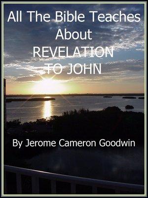 cover image of REVELATION, TO JOHN