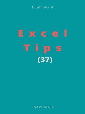 cover image of Excel Tips