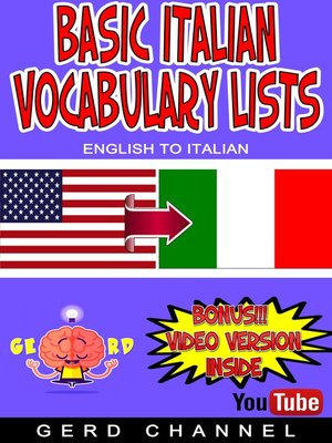 cover image of Basic Italian Vocabulary Lists