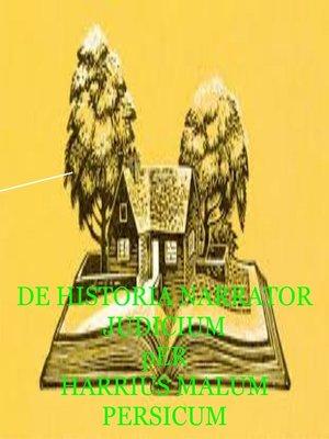 cover image of DE HISTORIA NARRATOR JUDICIUM