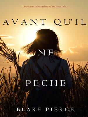 cover image of Avant qu'il ne pèche
