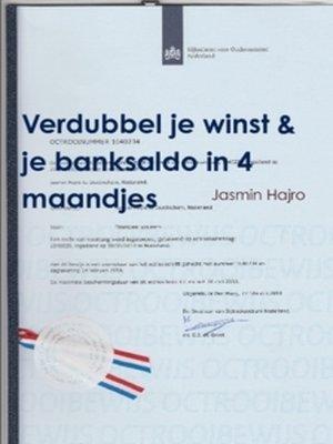 cover image of Verdubbel je winst & je banksaldo, in 4 maandjes