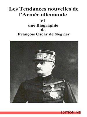 cover image of LES TENDANCES NOUVELLES  DE L'ARMÉE ALLEMANDE